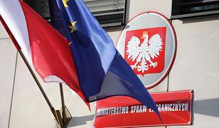Polskie MSZ reaguje na wydalenie 18 Rosjan z Czech