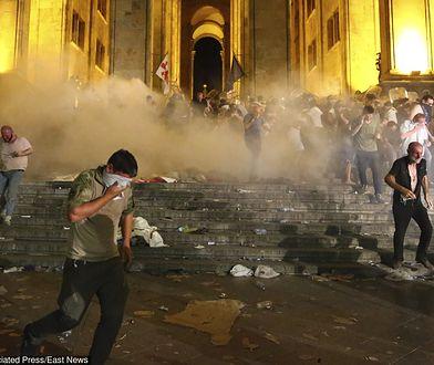 Gruzja. Zamieszki w Tbilisi.