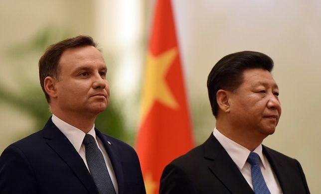 Prezydent Andrzej Duda oraz przewodniczący Chińskiej Republiki Ludowej Xi Jinping (East News, Fot:  AFP, EAST NEWS)