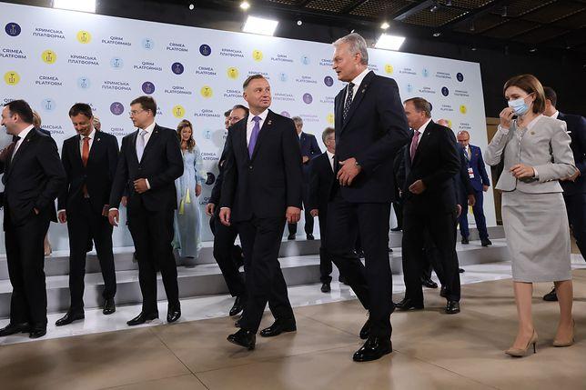Andrzej Duda podczas udziału w obradach Inauguracyjnego Szczytu Platformy Krymskiej w Kijowie