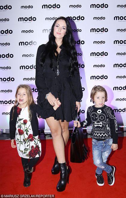 Katarzyna Przydryga z dziećmi