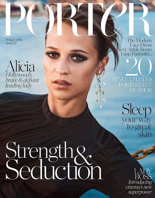 """Szwedzka aktorka w okładkowej sesji """"Porter Magazine"""""""
