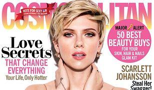 """Scarlett Johansson na okładce majowego """"Cosmopolitan"""""""