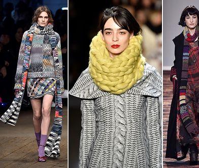 Zimowe trendy: szal w stylu oversize