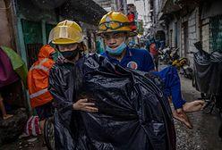 Tajfun Goni na Filipinach. Spowodował ogromne zniszczenia