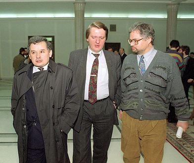 Jarosław Kaczyński i Adam Glapiński. Dwaj dawni współpracownicy polityczni z Porozumienia Centrum