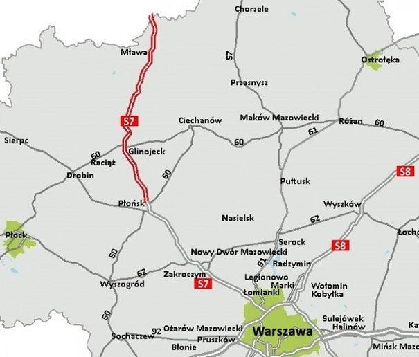 Łatwiejszy dojazd z Warszawy do Gdańska. Ruszył duży przetarg na odcinek drogi S7