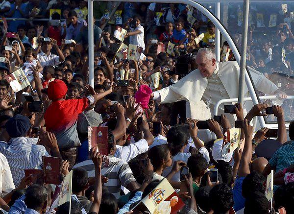 Papież podczas wizyty na Sri Lance