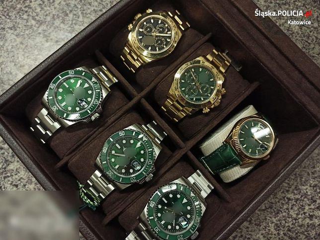 Policja na poczet przyszłych kar zabezpieczyła m.in. cenne zegarki.