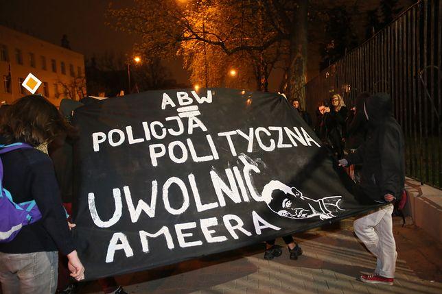 Protest przeciwko deportacji studiującego w Polsce Kurda z Iraku Ameera Alkhawlany'ego