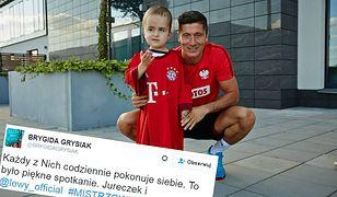 Wzruszające spotkanie. Robert Lewandowski spełnił marzenie pięcioletniego fana, który miał guza mózgu