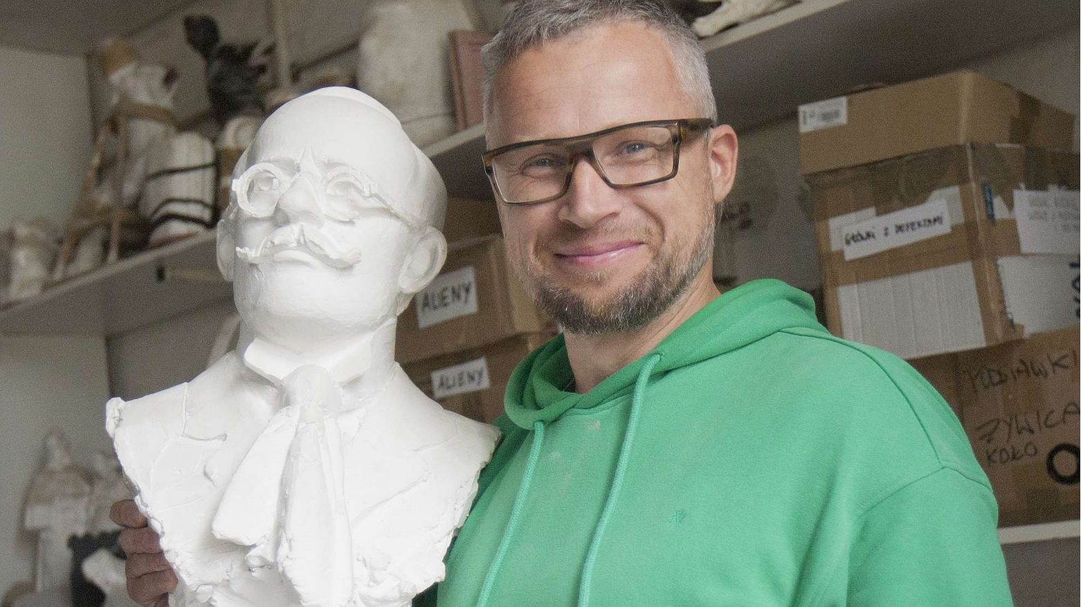 Tomasz Radziewicz w swojej gdańskiej pracowni