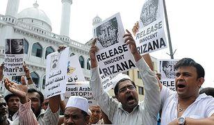 Mieszkańcy stolicy Sri Lanki protestują w obronie Nafeek, 2011 r.
