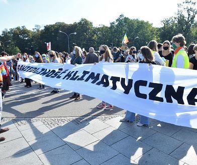 Warszawa. Protest młodych aktywistów