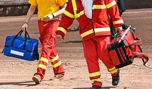 Kierowca białoruskiej ciężarówki w ciężkim stanie trafił do szpitala.