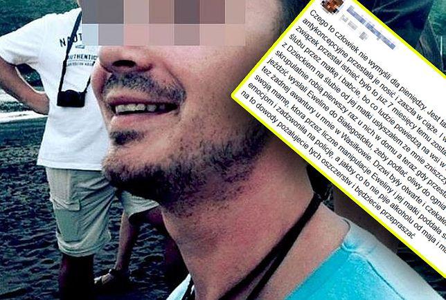 Daniel M. zamieścił 3 stycznia mocny wpis na Facebooku. Bezpardonowo zaatakował w nim m.in. żonę i teściów