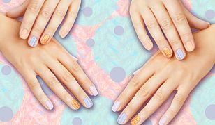 Dzianinowy manicure
