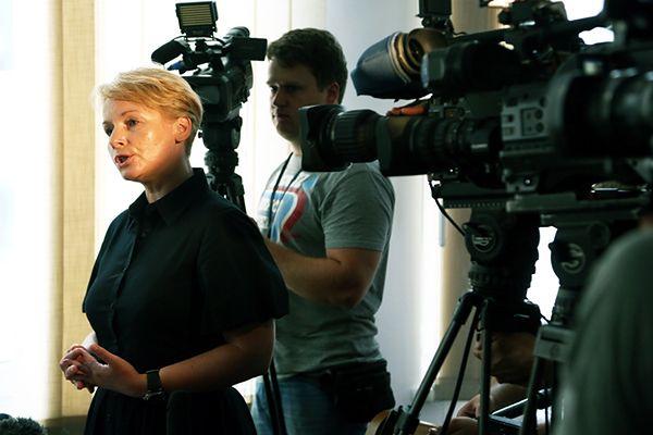Żona jednej z ofiar, prezesa NBP Sławomira Skrzypka Dorota Skrzypek na sali rozpraw