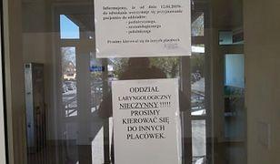 Szpital Powiatowy im. A. Wolańczyka z Złotoryi zamknął 3 oddziały. Odsyła pacjentów do innych placówek.