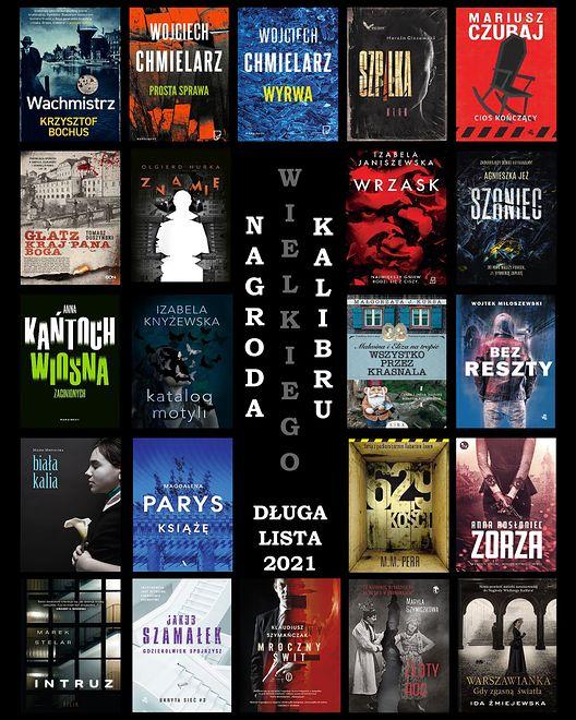 Książki nominowane do Nagrody Wielkiego Kalibru 2021