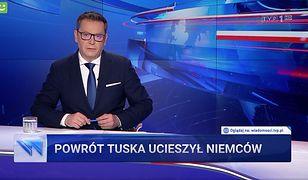 """""""Wiadomości"""" TVP znowu uderzyły w Donalda Tuska. """"Ataki na oślep"""""""