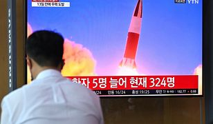 """Korea Północna. Nagranie z testu """"niezidentyfikowanego pocisku"""" pokazała publiczna telewizja"""