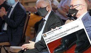 Kaczyński założył dwa różne buty? Burza w sieci