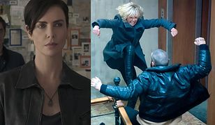 "Charlize Theron w ""The Old Guard"" i ""Atomic Blonde"" (po prawej)"