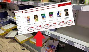 W sklepach internetowych - kasza, ryż, makaron czy papier toaletowy są towarami deficytowymi.