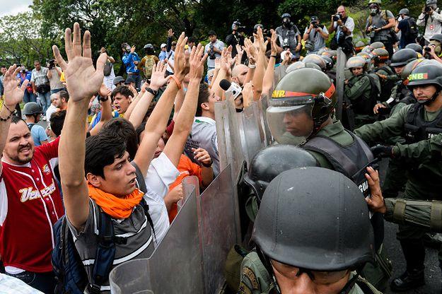 Protest opozycji w Caracas; 11 maja