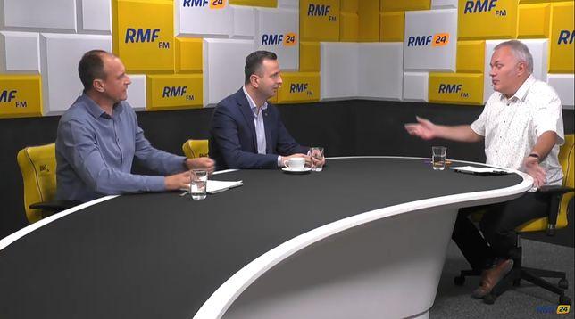 Screen z rozmowy w RMF FM