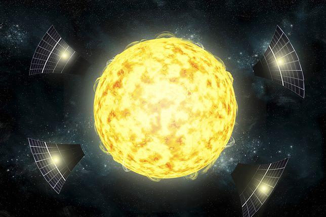 Grafika przedstawiające KIC 8462852 jako megastrukturę obcych