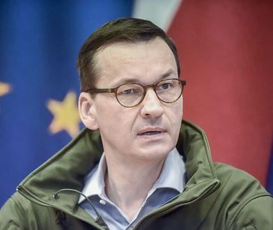 Małopolski Urząd Wojewódzki. Posiedzenie sztabu kryzysowego z udziałem premiera Mateusza Morawieckiego.