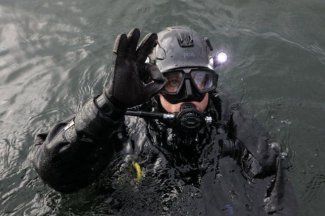 Płetwonurek Grupy Nurków Minerów 8. Flotylli Ochrony Wybrzeża