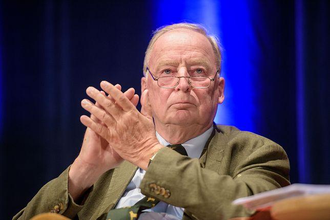 Lider antyimigranckiej AfD Alexander Gauland znany jest ze swoich poglądów na temat II wojny światowej