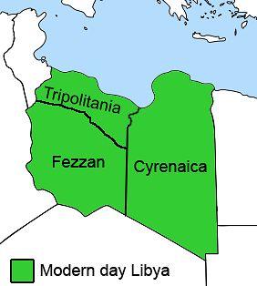 Historyczny podział libijskich prowincji