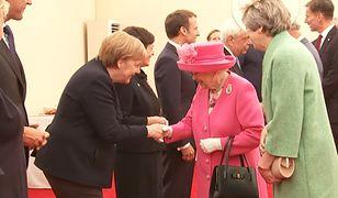 Kanclerz Niemiec Angela Merkel i królowa Elżbieta II