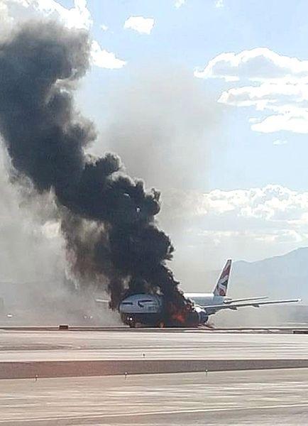 Samolot British Airways zapalił się przed startem w Las Vegas
