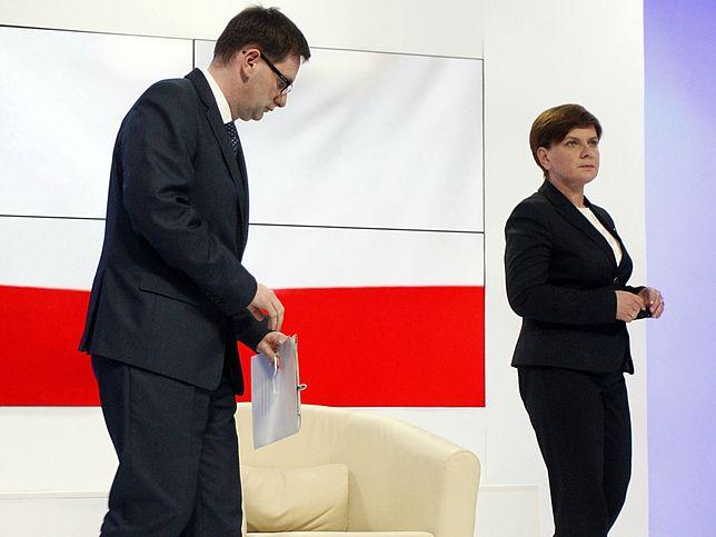 Beata Szydło i Daniel Obajtek