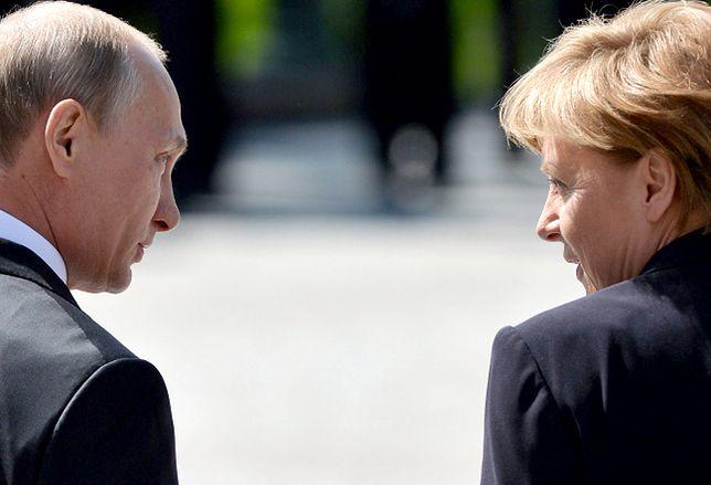 Angela Merkel i Władimir Putin w Moskwie