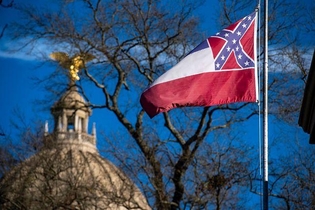Zmiana flagi stanu Missisipi w USA zostałą przegłosowana
