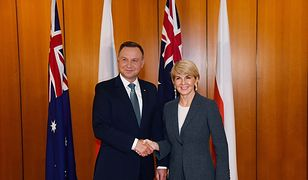 Podczas rozmów bilateralnych premiera Australii zastąpiła szefowa MSZ Julie Bishop