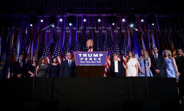 Donald Trump podczas powyborczego wystąpienia