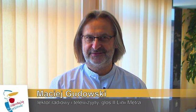 """Maciej Gudowski """"głosem"""" II linii metra! [WIDEO]"""