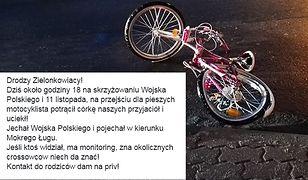 Motocyklista potrącił dziecko i uciekł. Rodzice, ich znajomi oraz policja szukają sprawcy