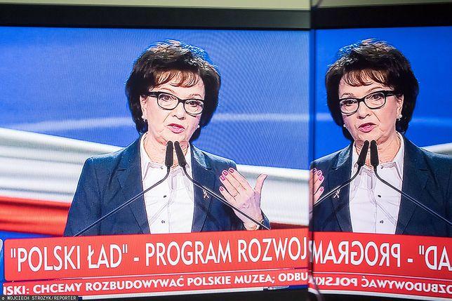 Elżbieta Witek na konferencji prezentującej program Polski Ład
