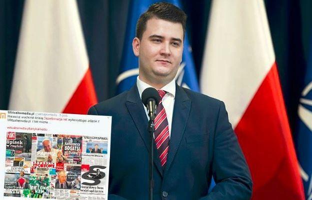 Misiewicz chce walczyć z dezinformacją. Zaczął od wykorzystania cudzej grafiki