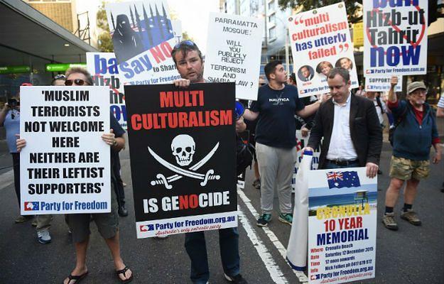 Antymuzułmański protest w Sydney, Australia