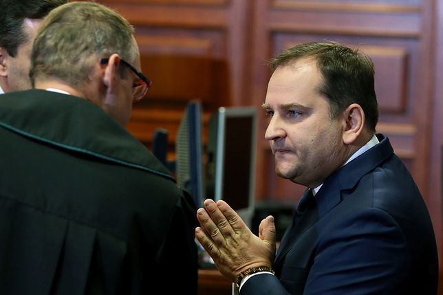 Tomasz Arabski w sądzie w 2016 r.