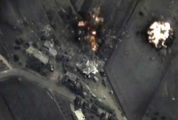 Kadr z nagrania opublikowanego przez rosyjskie ministerstwo obrony